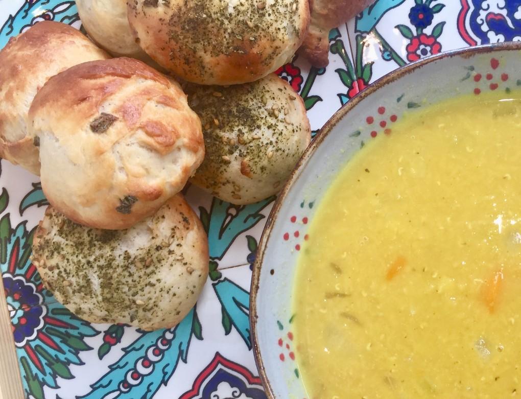 soup and bun